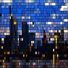 frankfurt city skyline - abstract