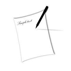 Pen sample text