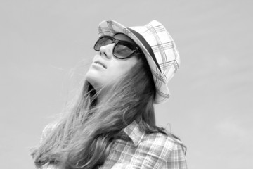 Summer urban fashion. Beautiful young model in stylish clothes.