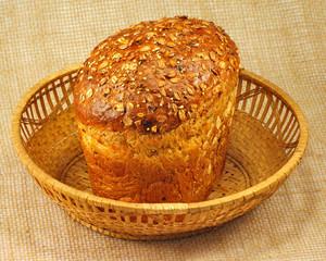 bread in the basket closeup