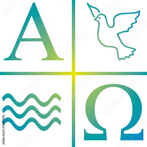 Symbol Taufe Wasser