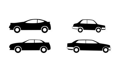 Black vector car icons