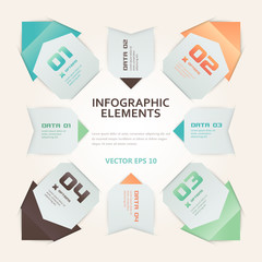 Modern Origami Style Infographic Illustration
