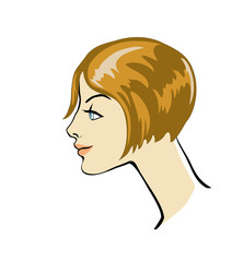 profile of girl with hairstyle