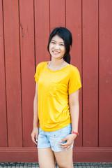 Asian Thai Girl in Natural Acting