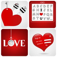 set of Valentin's Cards