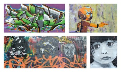 Photo sur Plexiglas Graffiti collage graffiti