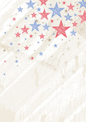 grunge usa background with stars, vector