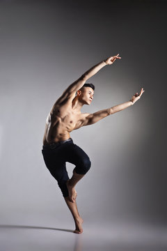 Young and stylish modern ballet dancer