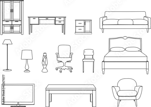 Line Drawing Chair : Quot furniture line drawing stock photo and royalty free