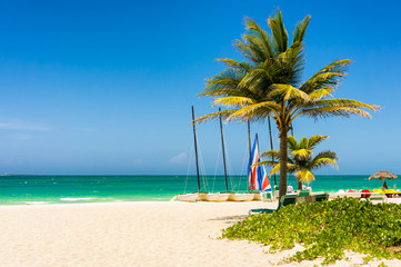 Wall Murals Caribbean The tropical beach of Varadero in Cuba