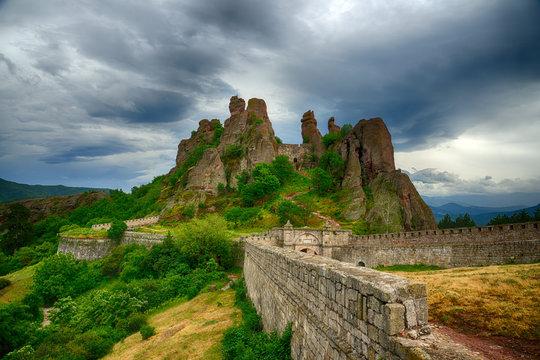 Belogradchik rocks Fortress bulwark, Bulgaria.HDR image