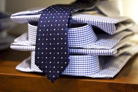 Mode, cravate, chemise, boutique, vêtement, masculin