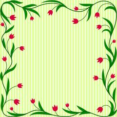 Tulips ornament border