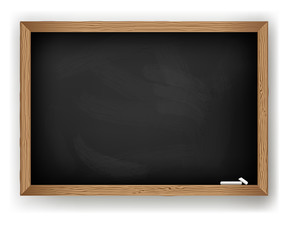 Blackboard for message chalk, vector