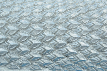 Texture sculpture of Silver Dragon Scales