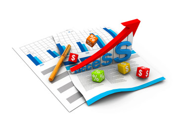 Business success  graph on chart