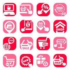 color shopping vector icons