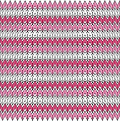 Poster ZigZag abstract mosaic design colorful pattern