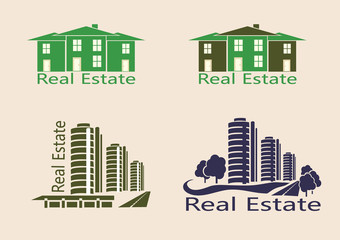 Real estate logo , icons .
