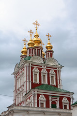 Fototapete - Church in the Novodevichy Monastery