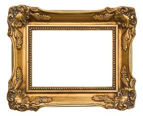 old golden frame. antique object