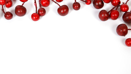 Christmas decoration from red berries