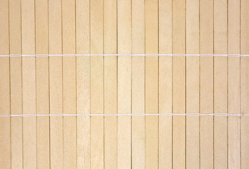 Wood slats joined with string