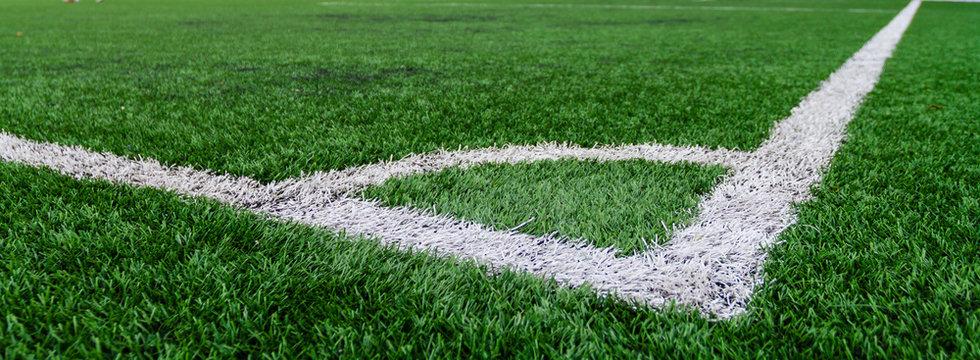 Soccer field grass conner