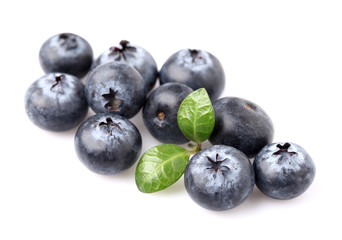 Fresh blueberry with leaf