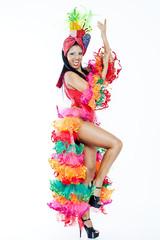 Brazilian Samba Dancer wearing Carmen Miranda Costume