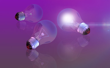 conceptual digital light bulb