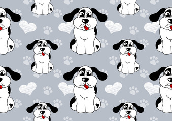 dog seamless background