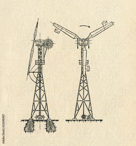 Electric Windmill Diagram Stock Photo And Royalty Free Images On