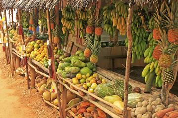 Fruit stand in small village, Samana peninsula