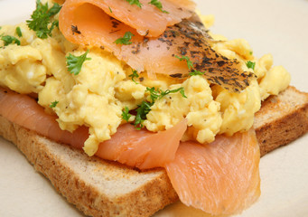 Smoked Salmon & Srcambled Eggs