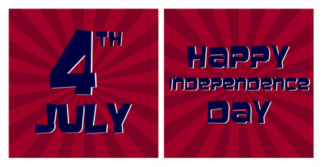 Happy 4th July Independence Day Vector