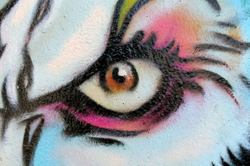 angry eye graffiti