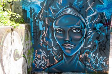 Graffiti personnage réaliste