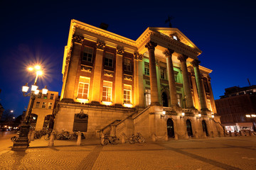 Wall Mural - City Hall in Groningen city at night