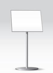 Floor standing poster holder.Vector