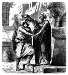 Samuel crowning King Saul - Biblical Scene