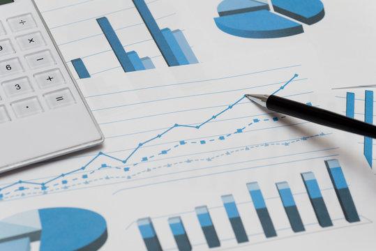 青色のビジネスチャート