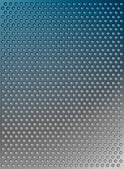 abstract vector blue metal background with dots