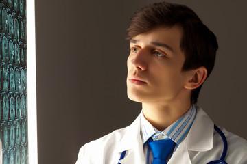 Male radiologist