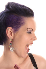 laughing punky girl