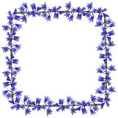 Blue flowers frame