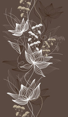 Canvas Prints Abstract Floral Seamless vector background, texture with flowers, floral pattern