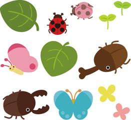 虫たちと植物