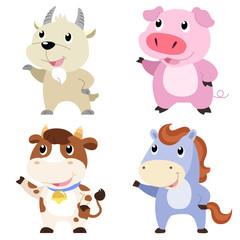 cute farm animal set